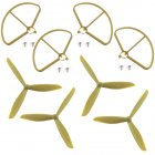 For HUBSAN H501S X4 Parts Set Propellers/ Protective Cover Accessories Spare Parts Protective cover + Propeller gold