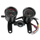 For Honda Cafe Racer Motorcycle Odometer Speedmeter Tachometer LED Speed Meter black