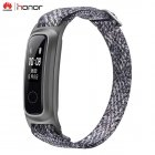 For Huawei Honor Band 5 Basketball Edition w/ Metal Strap Smart Wristband AMOLED Watch Heart Rate Fitness Sleep Tracker Sport gray