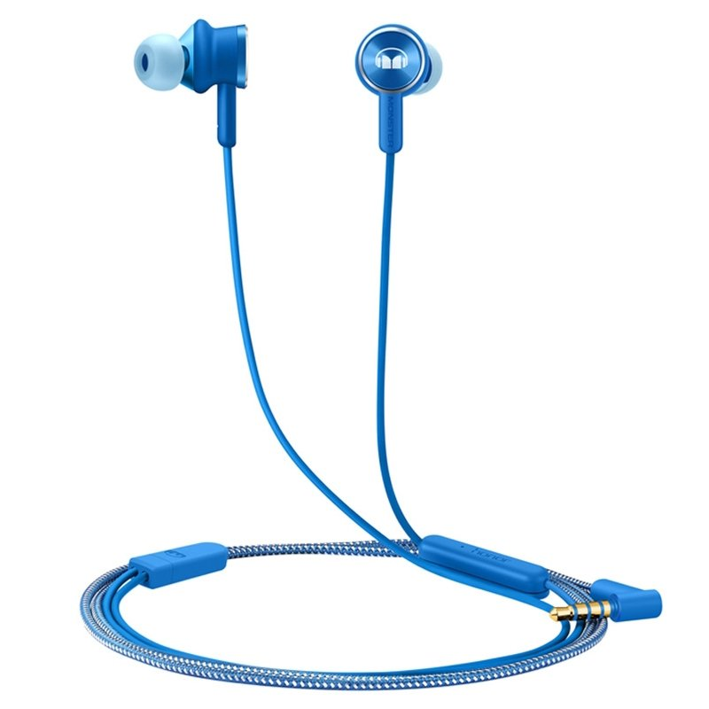 For Huawei Honor Monster Earphone 2 AM17 with Mic Control In-Ear Earbud for Huawei Honor 9 Mate 8/9 P10 Xiaomi Headsets blue