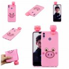 For Huawei Nova 3I 3D Cartoon Lovely Coloured Painted Soft TPU Back Cover Non-slip Shockproof Full Protective Case Small pink pig