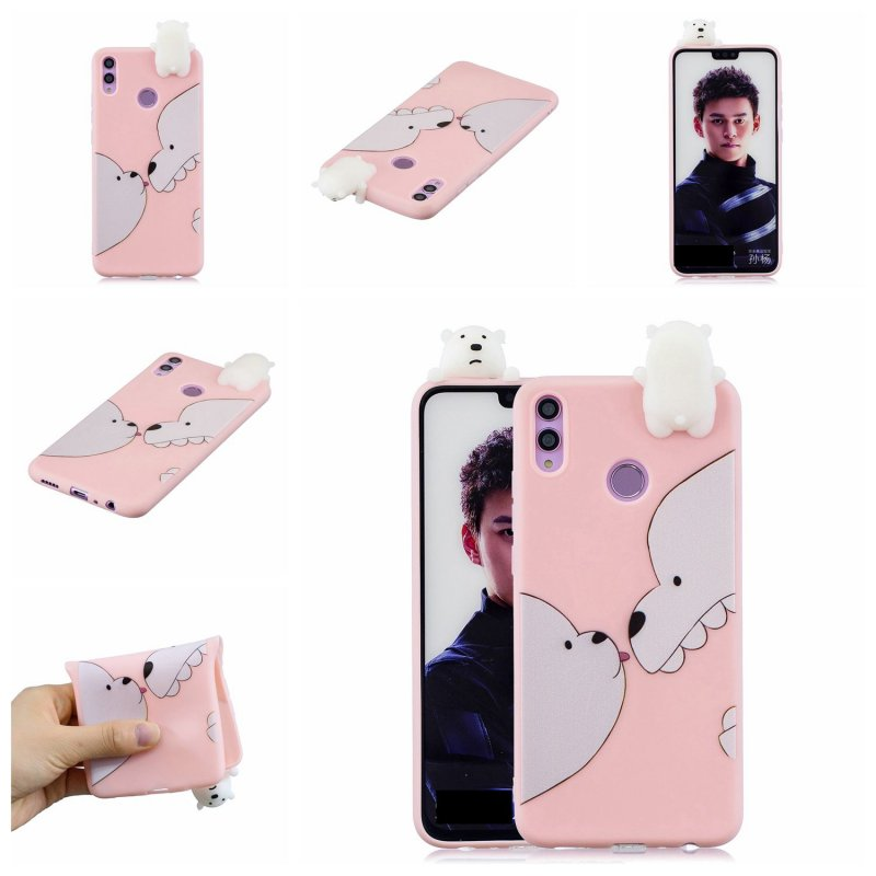 For Huawei Nova 3I 3D Cartoon Lovely Coloured Painted Soft TPU Back Cover Non-slip Shockproof Full Protective Case Big white bear