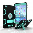 For IPAD MINI 4 PC  Silicone Hit Color Armor Case Tri proof Shockproof Dustproof Anti fall Protective Cover  Black   mint green