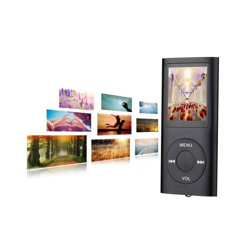 For IPod Style 32GB Portable 1.8in LCD MP3 MP4 Music Video Media Player FM Radio Portable Colorful MP3 MP4 Player Music Video black
