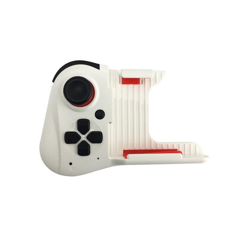 For MOCUTE-059 One-handed Wireless Bluetooth Gamepad for Android IOS Phone PUBG Game Pad Rechargeable Game Handle White