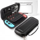 For Nintend Switch Portable Bag Carrying Pouch Shell Hard Carbon Fiber Travel Case black