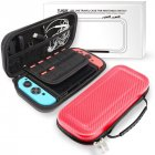 For Nintend Switch Portable Bag Carrying Pouch Shell Hard Carbon Fiber Travel Case red