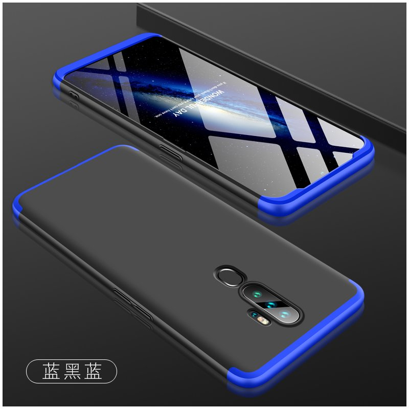 For OPPO A5 2020/A11X Cellphone Cover Hard PC Phone Case Bumper Protective Smartphone Shell black blue