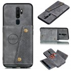 For OPPO A9 2020 Realme XT Reno 2 Mobile Phone Shell Classic Textured Pattern Buckle Closure Design Anti fall Smartphone Case  gray