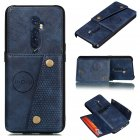 For OPPO A9 2020/Realme XT/Reno 2 Mobile Phone Shell Classic Textured Pattern Buckle Closure Design Anti-fall Smartphone Case  blue