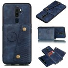 For OPPO A9 2020 Realme XT Reno 2 Mobile Phone Shell Classic Textured Pattern Buckle Closure Design Anti fall Smartphone Case  blue