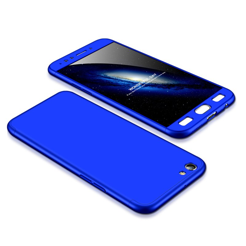 For OPPO F3/A77(International) Slim 3 in 1 Hybrid Hard Case Full Body 360 Degree Protection Back Cover blue