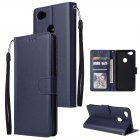 For OPPO F7 Wallet-type PU Leather Protective Phone Case with Buckle & 3 Card Position blue