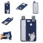 For OPPO F9/F9 PRO 3D Cute Coloured Painted Animal TPU Anti-scratch Non-slip Protective Cover Back Case big face cat