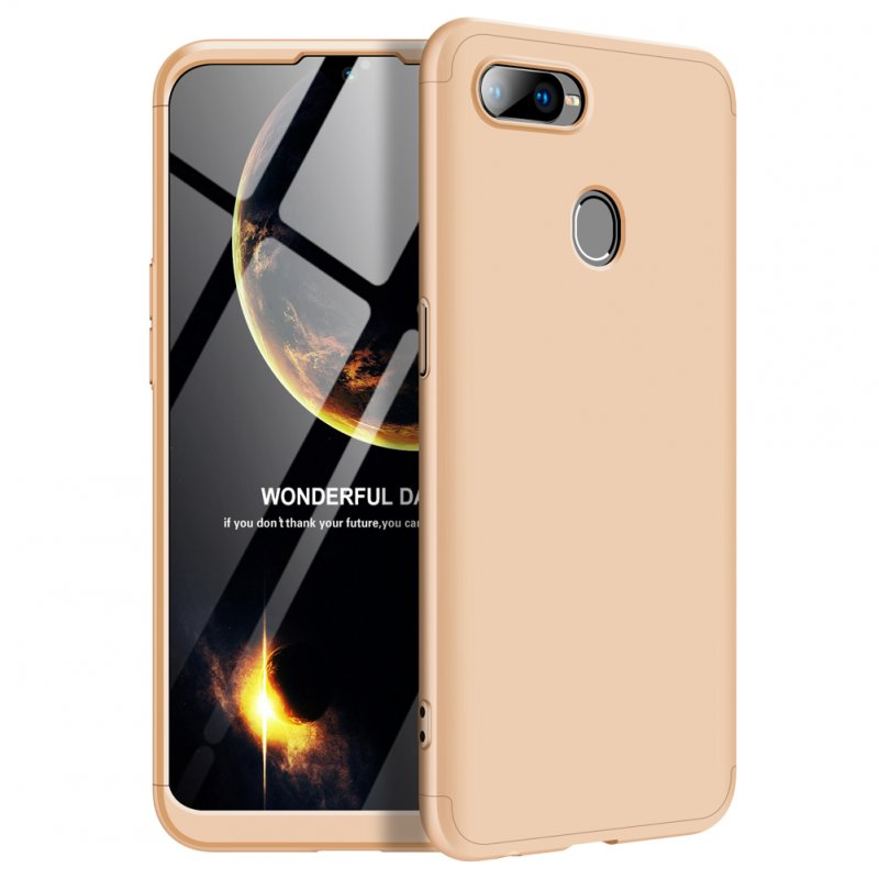 For OPPO F9/F9 Pro 3 in 1 360 Degree Non-slip Shockproof Full Protective Case gold