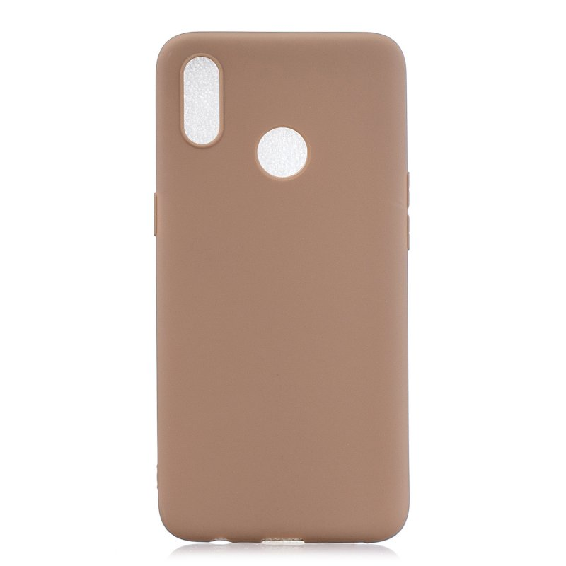 For OPPO Realme 3 Lovely Candy Color Matte TPU Anti-scratch Non-slip Protective Cover Back Case 9