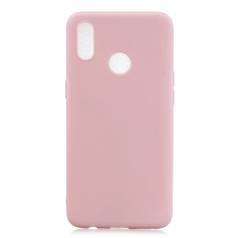 For OPPO Realme 3 Lovely Candy Color Matte TPU Anti-scratch Non-slip Protective Cover Back Case 11