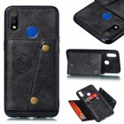 For OPPO Realme 3 PU Leather Flip Stand Shockproof Cell Phone Cover Double Buckle Anti-dust Case With Card Slots Pocket black