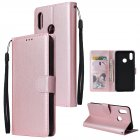 For OPPO Realme 3 Wallet type PU Leather Protective Phone Case with Buckle   3 Card Position Rose gold