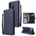 For OPPO Realme 3 Wallet-type PU Leather Protective Phone Case with Buckle & 3 Card Position blue