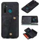 For OPPO Realme 5/5 Pro Mobile Phone Shell Buckle Closure Wallet Design Overall Protective Smartphone Cover  black