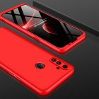 For OPPO Realme C3 360Dgree Full Protection Shockproof PC Phone Back Cover  red