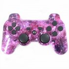 For PS3 Wireless Bluetooth Hydrographics Transfer Printing Gamepad Game Controller Purple star