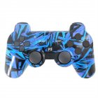 For PS3 Wireless Bluetooth Hydrographics Transfer Printing Gamepad Game Controller Diamond dark blue