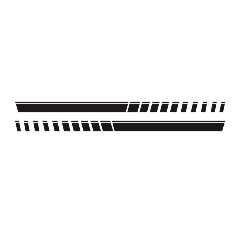 For Pickup Truck Vinyl Decal Sticker Graphics Sport Side Door Stripe Car Sticker  black