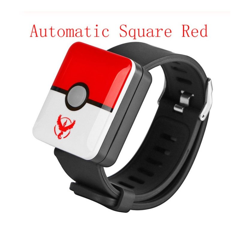 For Pokemon Go Plus Bluetooth Wristband Bracelet Watch Game Accessories for Nintend for Pokemon GO Plus Balls Smart Wristband Red and white