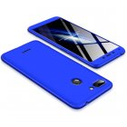 For Redmi 6 3 in 1 Hybrid Hard Case Full Body 360 Degree Protection Back Cover  blue