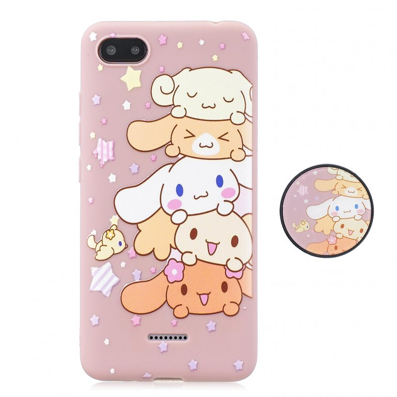 For Redmi 6A Phone Cases TPU Full Cover Cute Cartoon Painted Case Girls Mobile Phone Cover with Matched Pattern Adjustable Bracket  1