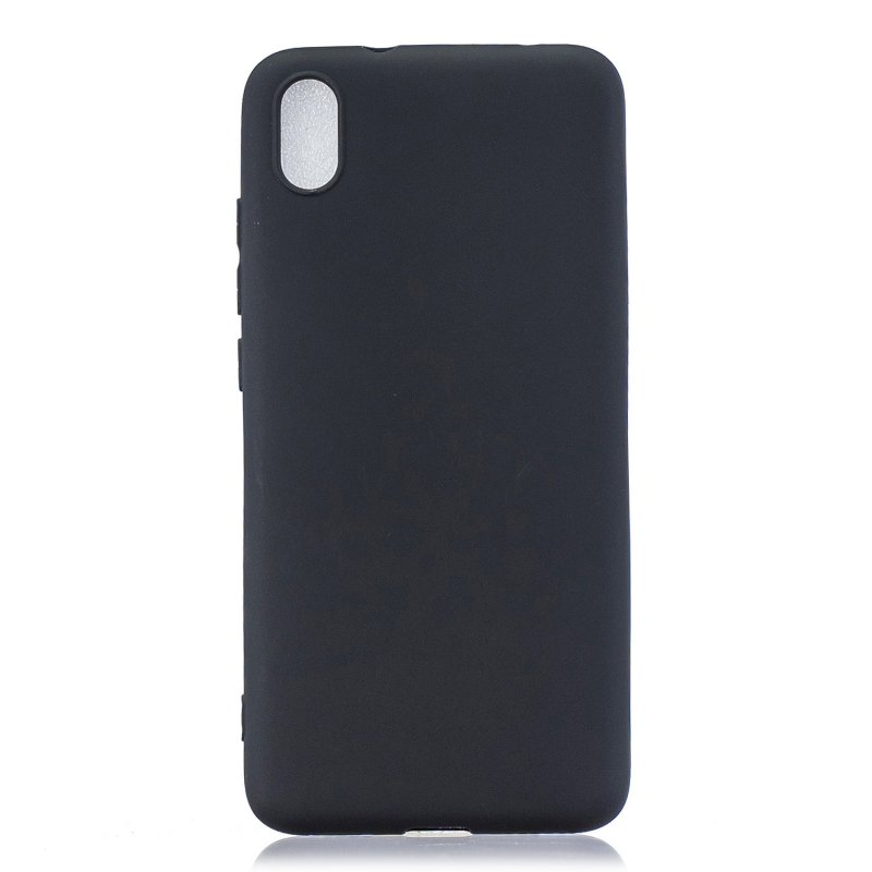 For Redmi 7A Lovely Candy Color Matte TPU Anti-scratch Non-slip Protective Cover Back Case black