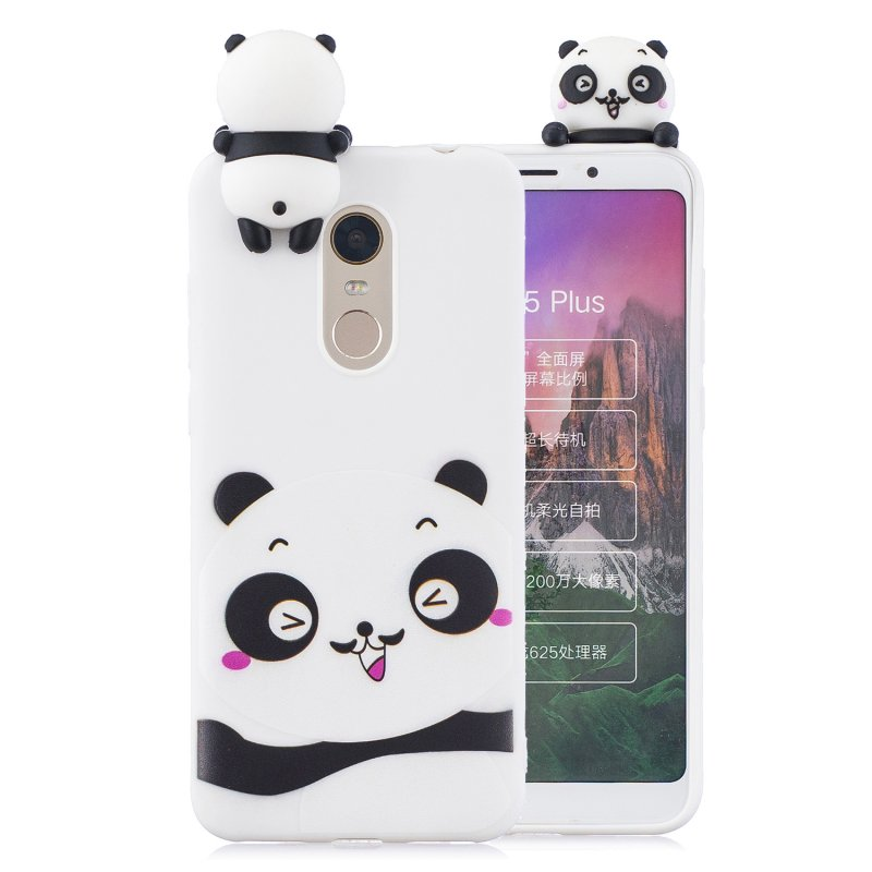 For Redmi 8/8A/5/Note 8T Mobile Phone Case Cute Cellphone Shell Soft TPU Cover with Cartoon Pig Duck Bear Kitten Lovely Pattern White