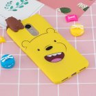For Redmi 8 8A 5 Note 8T Mobile Phone Case Cute Cellphone Shell Soft TPU Cover with Cartoon Pig Duck Bear Kitten Lovely Pattern Yellow