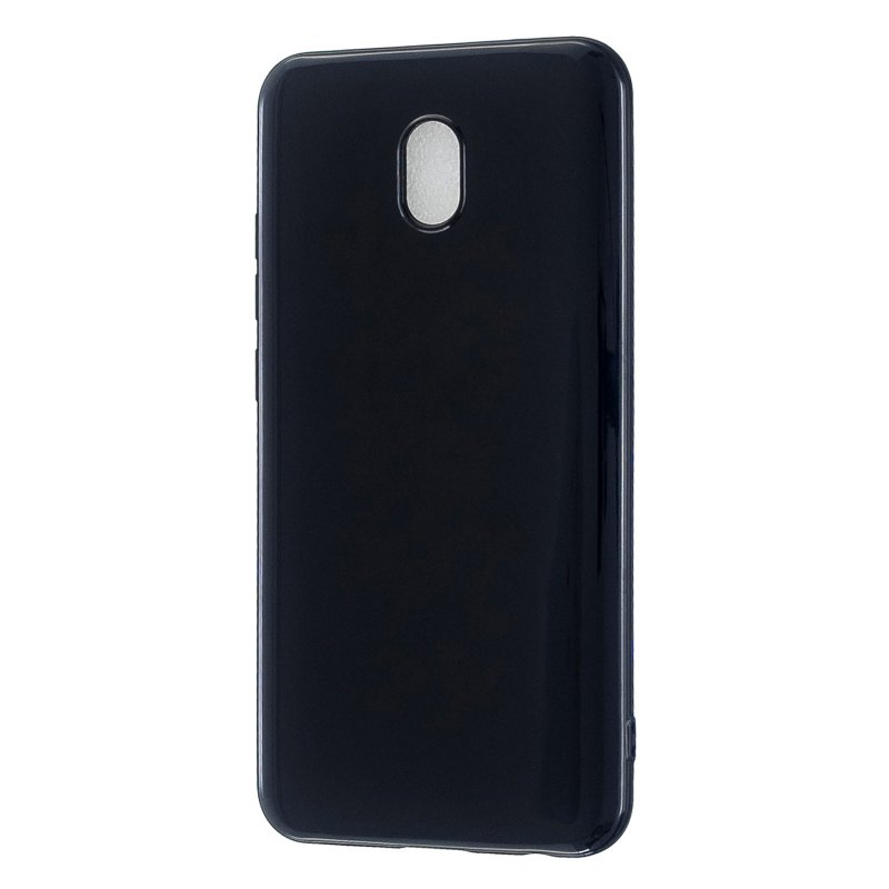 For Redmi 8 / Redmi 8A Cellphone Cover Glossy TPU Phone Case Defender Full Body Protection Smartphone Shell Bright black