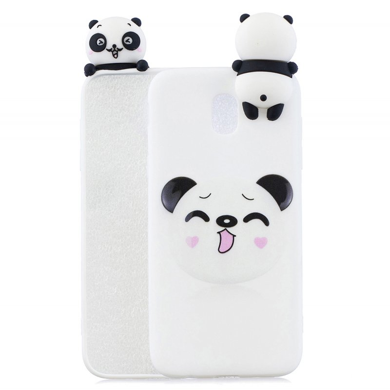 For Redmi 8A 3D Cartoon Painting Back Cover Soft TPU Mobile Phone Case Shell Smiley Panda
