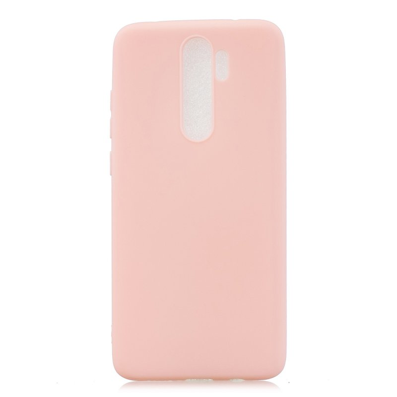 For Redmi NOTE 8 NOTE 8 Pro Soft Candy Color Frosted Surface Shockproof TPU Back Cover Mobile Phone Case Light pink
