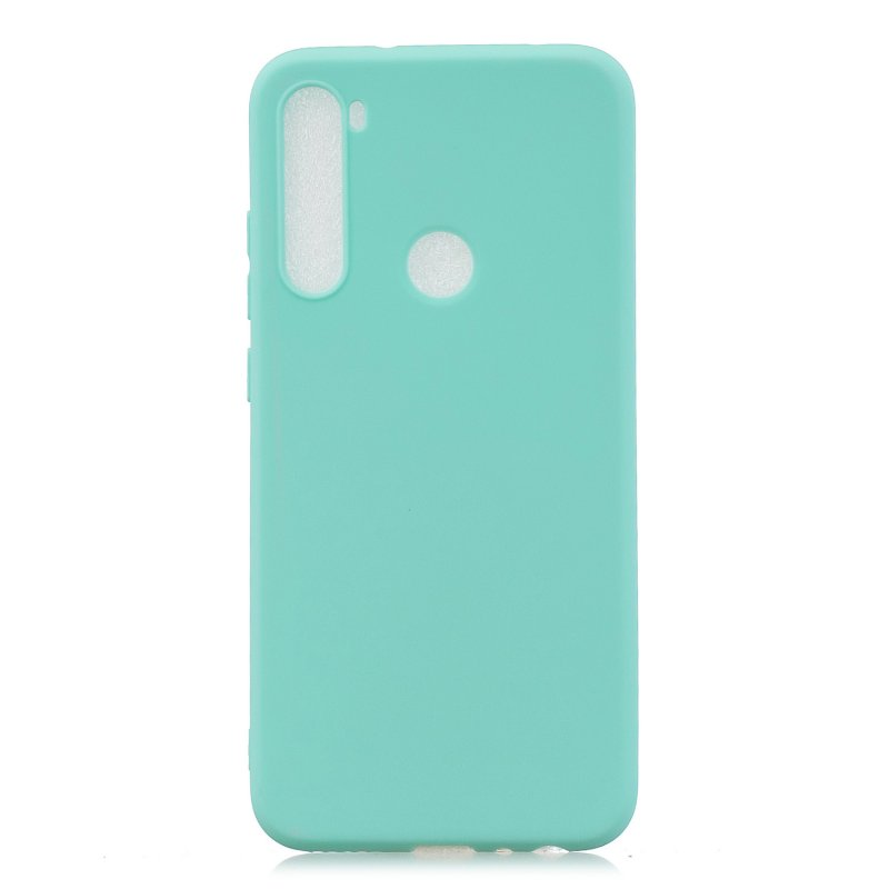 For Redmi NOTE 8 NOTE 8 Pro Soft Candy Color Frosted Surface Shockproof TPU Back Cover Mobile Phone Case Light blue
