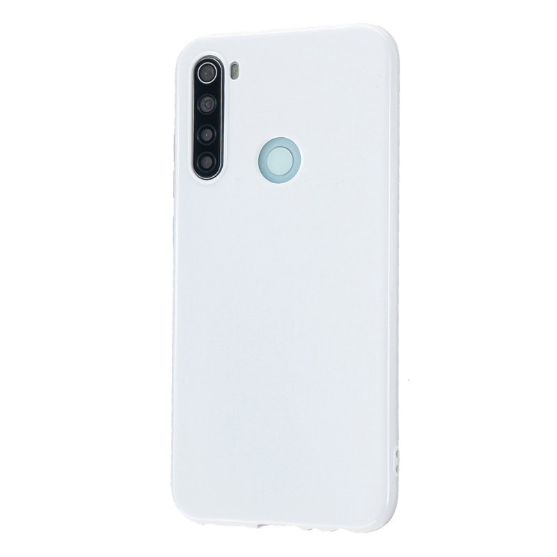 For Redmi Note 8/8 Pro Cellphone Cover Reinforced Soft TPU Phone Case Anti-scratch Full Body Protection Milk white