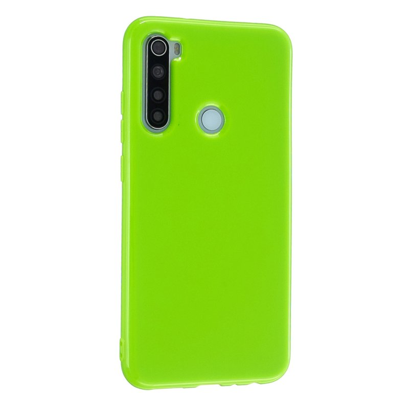 For Redmi Note 8/8 Pro Cellphone Cover 2.0mm Thickened TPU Case Camera Protector Anti-Scratch Soft Phone Shell Green