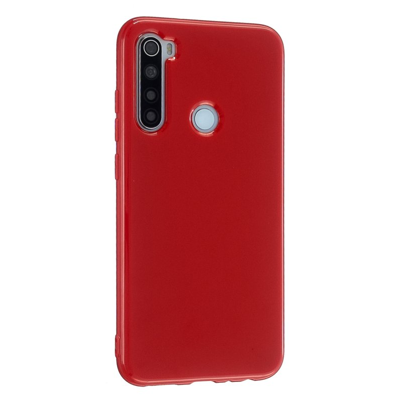 For Redmi Note 8/8 Pro Cellphone Cover 2.0mm Thickened TPU Case Camera Protector Anti-Scratch Soft Phone Shell Red