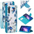 For Redmi Note 8/8 Pro Cellphone Cover Stand Function Wallet Design PU Leather Smartphone Shell Elegant Pattern Printed  Magic butterfly