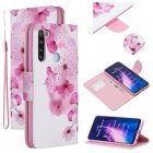 For Redmi Note 8/8 <span style='color:#F7840C'>Pro</span> Cellphone Cover Stand Function Wallet Design PU Leather <span style='color:#F7840C'>Smartphone</span> Shell Elegant Pattern Printed peach blossom