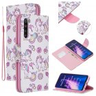 For Redmi Note 8/8 <span style='color:#F7840C'>Pro</span> Cellphone Cover Stand Function Wallet Design PU Leather <span style='color:#F7840C'>Smartphone</span> Shell Elegant Pattern Printed Ice cream unicorn