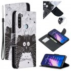 For Redmi Note 8/8 Pro Cellphone Cover Stand Function Wallet Design PU Leather Smartphone Shell Elegant Pattern Printed  Black white cat