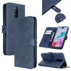 For Redmi Note 8T/Redmi 8/Redmi 8A Case Soft Leather Cover with Denim Texture Precise Cutouts Wallet Design Buckle Closure Smartphone Shell  blue
