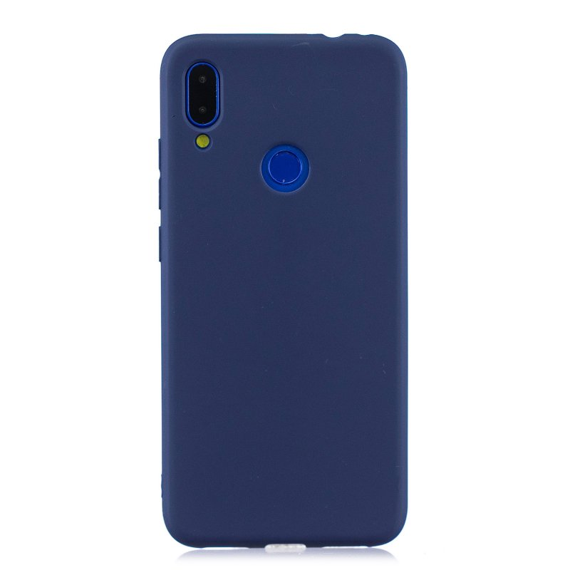 For Redmi note 7 Lovely Candy Color Matte TPU Anti-scratch Non-slip Protective Cover Back Case Navy