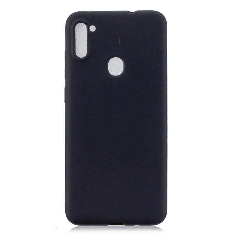 For Samsung A01/ A11/A21/A41/A51/A71/A81/A91 Mobile Phone Case Lovely Candy Color Matte TPU Anti-scratch Non-slip Protective Cover Back Case 1 black