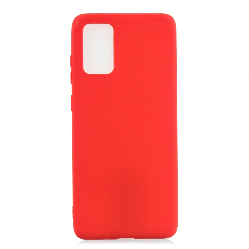 For Samsung A01/ A11/A21/A41/A51/A71/A81/A91 Mobile Phone Case Lovely Candy Color Matte TPU Anti-scratch Non-slip Protective Cover Back Case 4 red